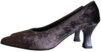 Salvatore Ferragamo Brown Velvet Heels