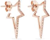 Diane Kordas Star Hoop 18-karat Rose Gold Diamond Earrings - one size