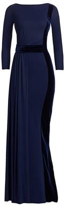 Chiara Boni Macalyn Velvet Boatneck Gown