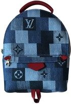 Louis Vuitton Palm Springs Blue Denim - Jeans Backpacks