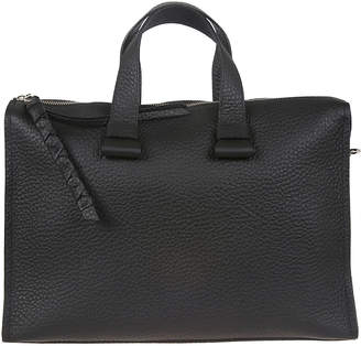 Orciani Black Leather Bag