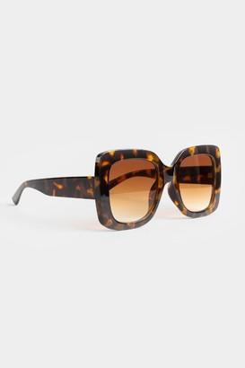 francesca's Olivia Chunky Square Sunglasses - Tortoise