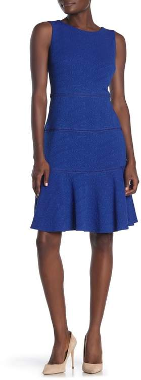 Gabby Skye Sleeveless Mini Swirl Tiered Fit and Flare Dress