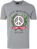 Love Moschino peace print T-shirt - men - Cotton/Spandex/Elastane - XS