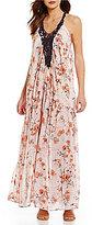 Coco + Jaimeson Crochet Trim Floral-Print Maxi Dress