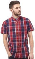 Duck and Cover Mens Cryer Check Shirt Firebrick
