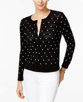 Charter Club Stripes and Dots Cardigan, Only at Macy's