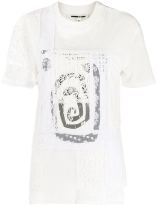 McQ lace panel cotton T-shirt