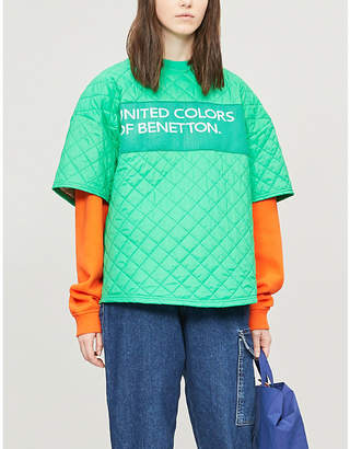 Benetton Branded oversized padded shell T-shirt