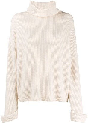 Brunello Cucinelli Roll Neck Ribbed Jumper