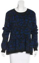 Sea Alpaca-Blend Abstract Pattern Sweater