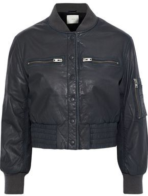 IRO Colombe Leather Bomber Jacket