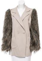 Robert Rodriguez Faux Fur-Accented Short Coat
