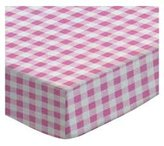 SheetWorld Fitted Square Playard Sheet (Fits Joovy) - Pink Gingham Check - Made In USA - 37.5 inches x 37.5 inches (95.25 cm x 95.25 cm)