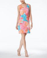 Ronni Nicole V-Neck Floral Shift Dress