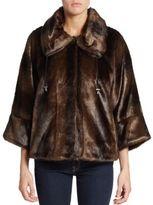 T Tahari Harper Faux Fur Jacket