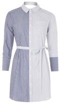 Topshop Stripe Wrap Back Shirtdress