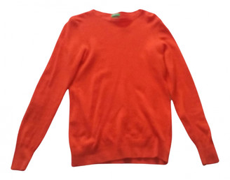 Benetton Orange Wool Knitwear