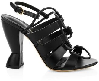 Salvatore Ferragamo Sirmio Strappy Leather Slingback Sandals