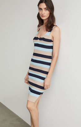 BCBGMAXAZRIA Striped Tank Dress