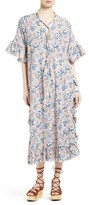 See by Chloe Women's Floral Print Lace-Up Caftan