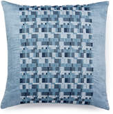 """Hotel Collection Colonnade Blue 18"""" Square Decorative Pillow"""