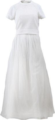 Brunello Cucinelli Pullover With Strapless Tulle Gown