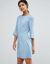 Warehouse Denim Fitted Dress