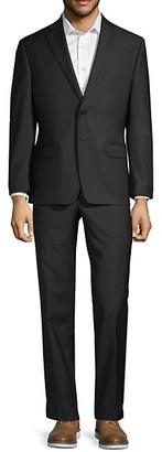 Calvin Klein Extra Slim-Fit Tonal Stripe Wool Suit