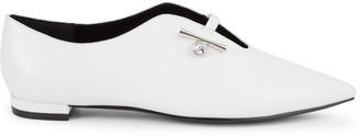 Nine West Aboveall Point-Toe Leather Flats
