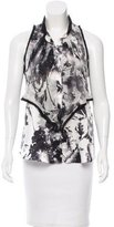 Carlos Miele Silk Nature Print Blouse
