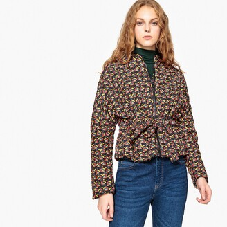 La Redoute Collections Printed Lightweight Padded Jacket with Tie