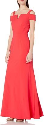 Tahari by Arthur S. Levine Women's Collar Column Gown
