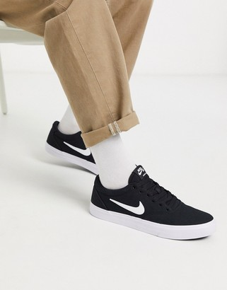 Nike SB Chron canvas sneakers in black