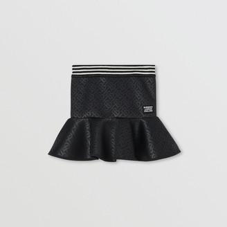 Burberry Childrens Logo Applique Monogram Jersey Skirt