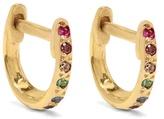 Ileana Makri Diamond, multi-stone & yellow-gold earrings