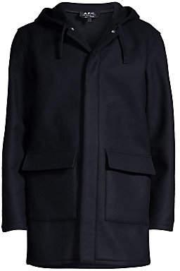 A.P.C. Men's Wool-Blend Parka Coat