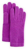 Portolano Cashmere Basic Knit Gloves, Iris True Purple