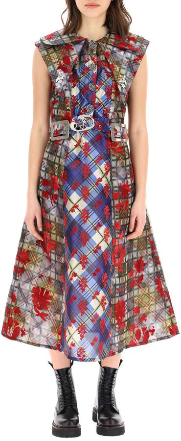 Thumbnail for your product : Chopova Lowena Flocked Midi Dress
