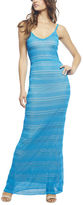 Arden B Pointelle Stretch Knit Maxi Tank Dress