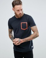 Lindbergh T-Shirt With Neon Pocket Detail