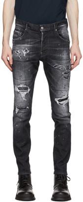 DSQUARED2 Black Ripped Skater Jeans