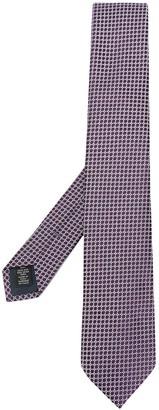 Ermenegildo Zegna Geometric Print Silk Tie