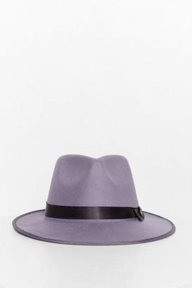 Nasty Gal Womens I Spy Faux Wool Fedora Hat - Stone