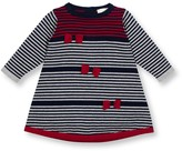 Le Top Bow Accented Stripe Sweater Dress (Baby Girls 3-9M)