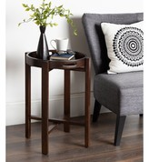 Orting Round Wooden Foldable Tray Table Canora Grey Color: Walnut Brown