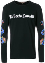 Roberto Cavalli long sleeved logo sweatshirt