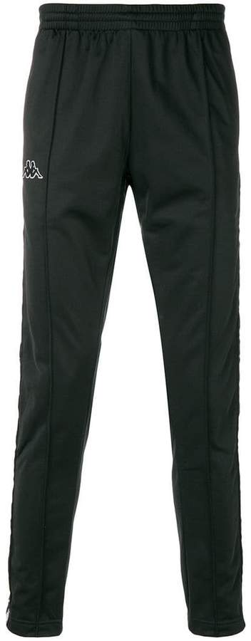 Kappa side stripe track pants
