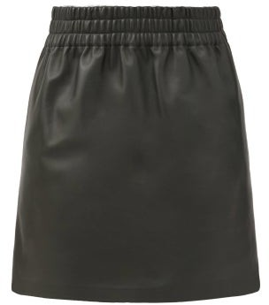 Bottega Veneta Elasticated-waist Leather Skirt - Dark Green