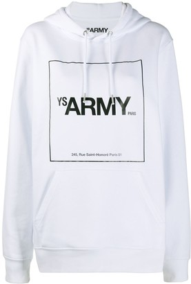 Yves Salomon Graphic-Print Long-Sleeved Hoodie